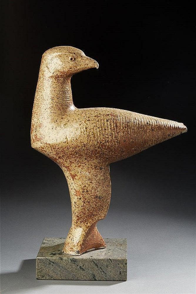 André Rozay ?(1913-1991  Sculpture zoomorphe en grès vernissé représentant