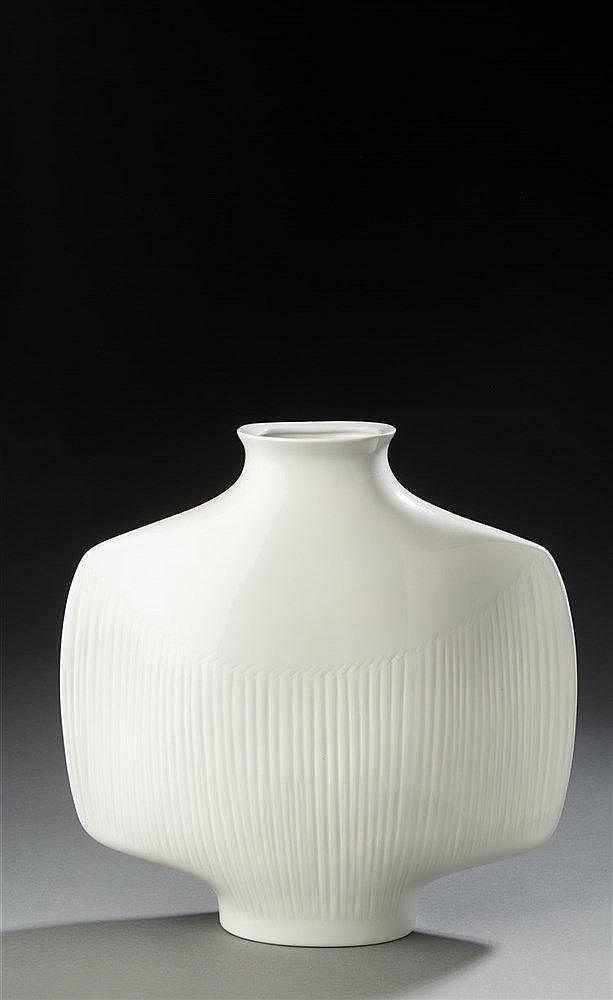 Yves Mohy (1928-2004 ) ?& Virebent éditeur Grand vase de forme libre en p