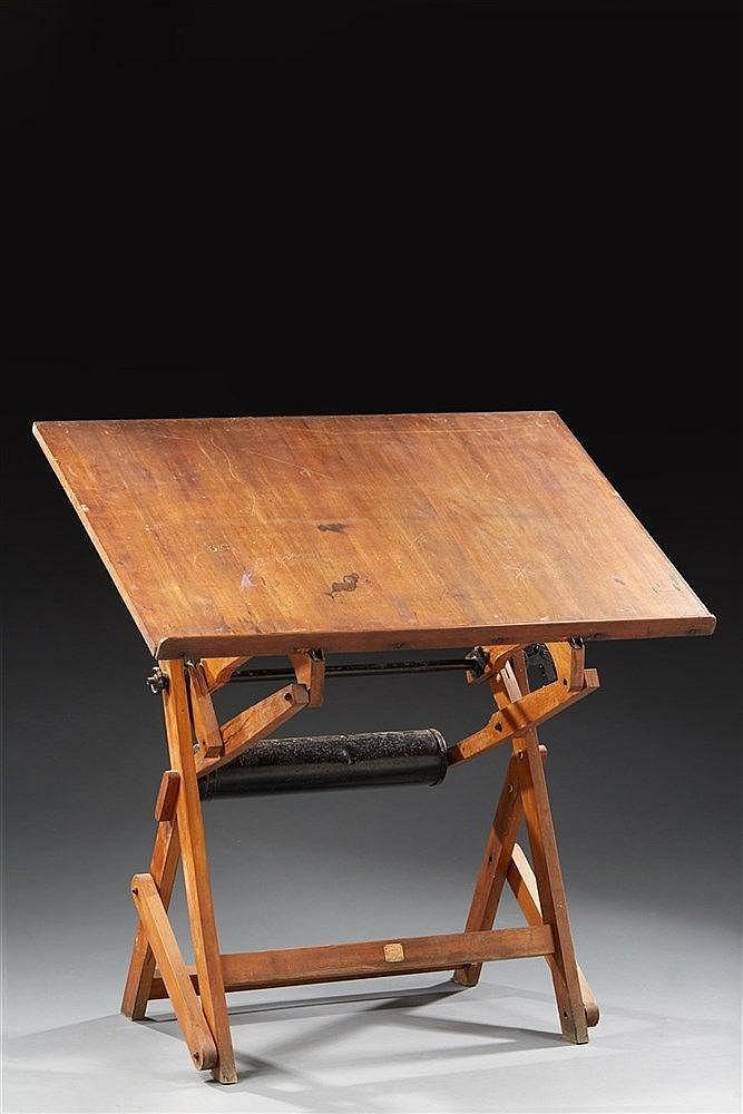 Unic Editeur Table d'architecte en bois réglable en hauteur et en inclinai