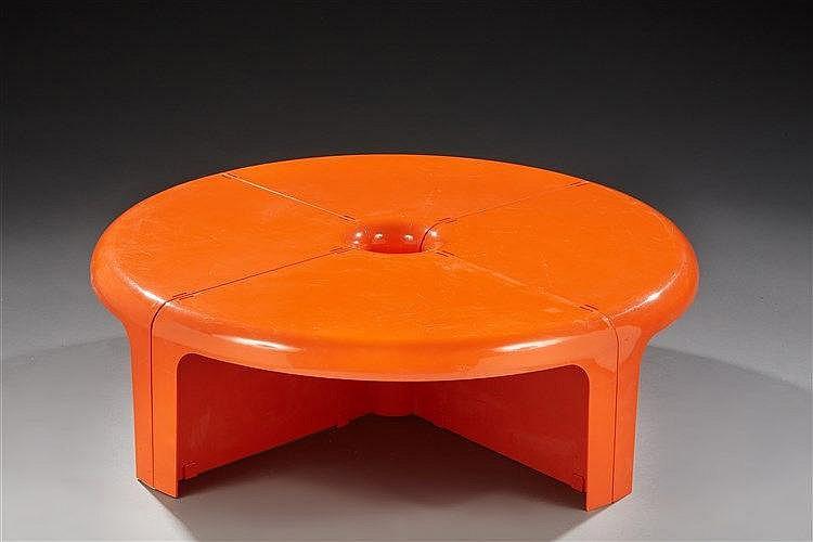 Rodlfo Bonetto (1929-1991) & Bernini Editeur Table modulable modèle Quatt