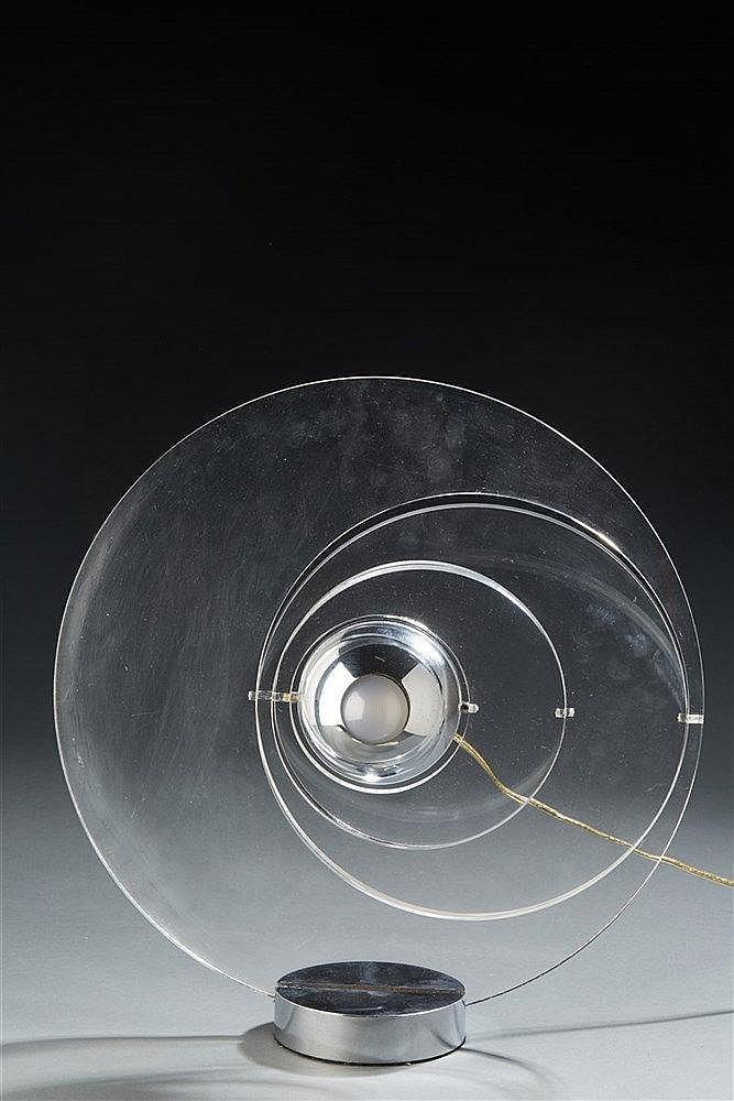 Yonel LEBOVICI?(1937-1998) Lampe Satellite, petit modèle de 1969.?Diam. :