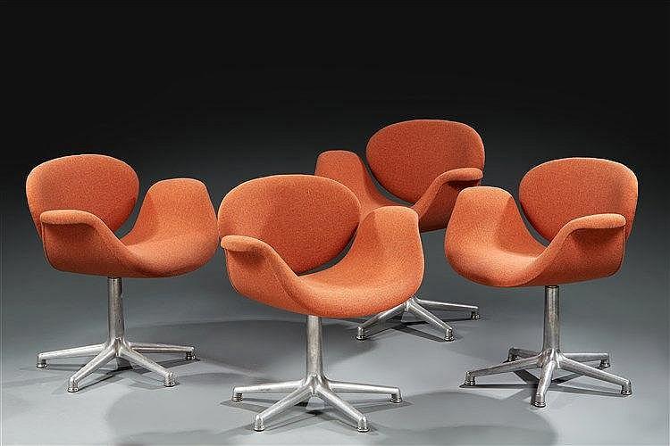 Pierre PAULIN ?(1927 2009) ?& Artifort éditeur Suite de fauteuils Little T