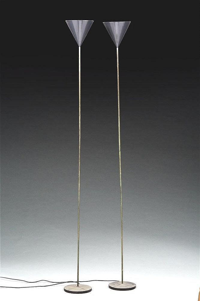 Luigi Caccia Dominioni (1913) ?& Azucena éditeur  Paire de lampadaires mod