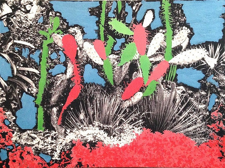 Jean-Luc & Harry  Cactus. Photo-acrylique sur toile. 2010. Dim. : 80 x 1