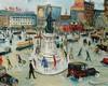 Lucien GENIN   (1894-1953)   Place de clichy   Huile sur toile signée en b, Lucien Génin, €2,400