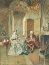 BERNARD LOUIS BORIONE (1865-?) - Scène historique Aquarelle sur papier signée, située et datée P