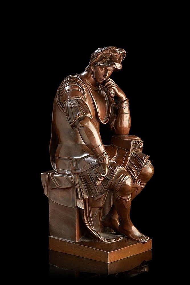 Statuette   en bronze ciselé et patiné représentant Laurent de Médicis, duc