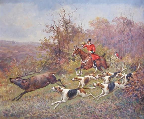 ROLIER fin XIXe-XXe siècle   Bien-aller.   Huile sur toile signée en bas à