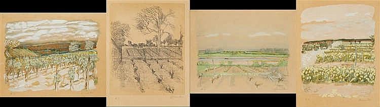 Maurice BRIANCHON (1899-1979)   Ensemble de quatre lithographies hors comme