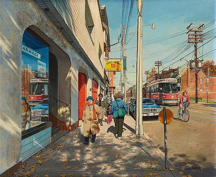 Douglas CALVERT (né en 1955)  Scène de rue, 844 Bathurst novembre 1987.   A