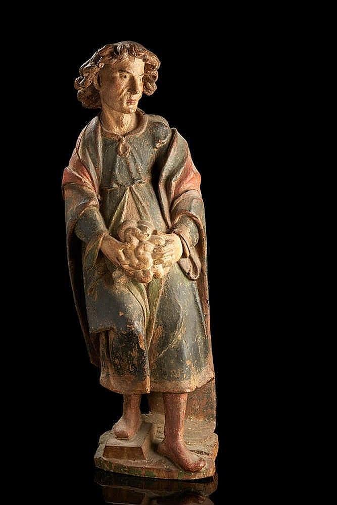 Saint Mammes en bois sculpté et polychromé. Sud de la France, XVIe siècle