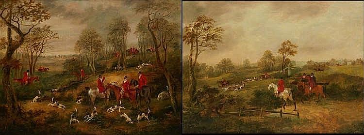 Dean I WOLSTENHOLME (1757-1837), attribué à. Scènes de chasse à cour. Pa