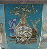 CHINE  Jardinière de forme hexagonale reposant sur six pieds en bronze cloi
