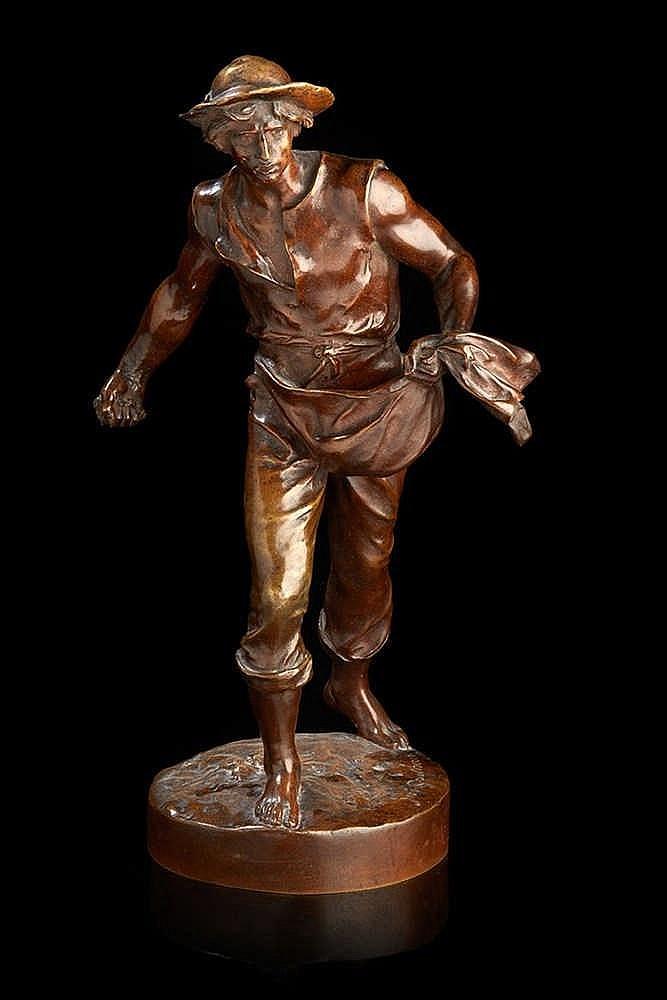 Jean Gautherin (1840-1890) d'après Statuette en bronze ciselé et patiné re