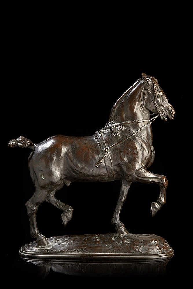 Emmanuel Fremiet (1824-1910) d'après  Statuette en bronze ciselé et patiné