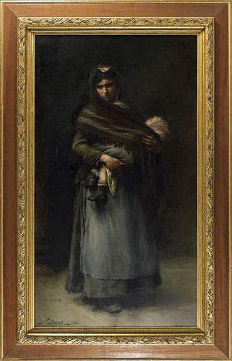 Nicolas SICARD (1846-1920) : BOHEMIENNE ET SON