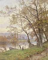 Emile ISENBART (1846-1921) - PECHEURS DANS UN