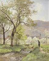 Emile ISENBART (1846-1921) - PAYSAGE DU DOUBS