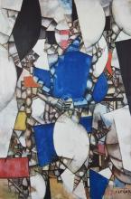 Fernand Leger (französisch, 1881 - 1955), La Femme en bleu, original Lichtdruck a. Zerkall-Büttenkarton
