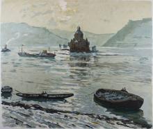 Erich Anton von Perfall (deutsch, 1853-1912), Binger Mäuseturm