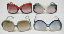 4 PAIR OF VINTAGE SUNGLASSES INCLUDING CHRISTIAN DIOR, TED LAPIDUS & LORIS AZZARO. FRANCE & ITALY.