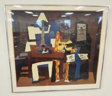 FRAMED MUSEUM PRINT- PICASSO *THREE MUSICIANS* MMA, 1971