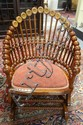 *LOLLIPOP* PLATFORM ROCKER; HAS FLORAL CARVING ON