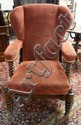 UNUSUAL UPHOLSTERED VICTORIAN RECLINER; HAS TURNED