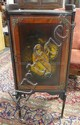 VERNI MARTIN TYPE DECORATED MUSIC CABINET W/BRASS