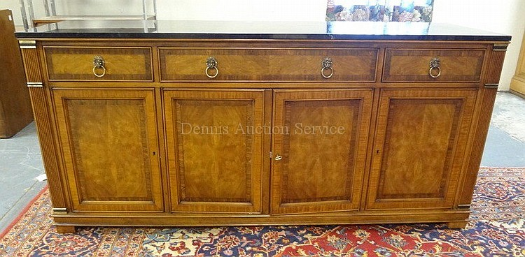HERITAGE 3 DRW, 4 DR BUFFET W/BLACK STONE TOP; HAS