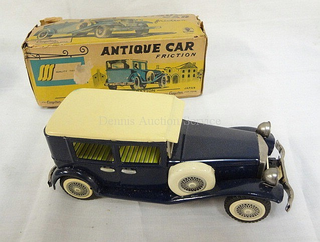 CRAGSTON *ANTIQUE CAR* FRICTION TOY W/BOX; JAPAN;