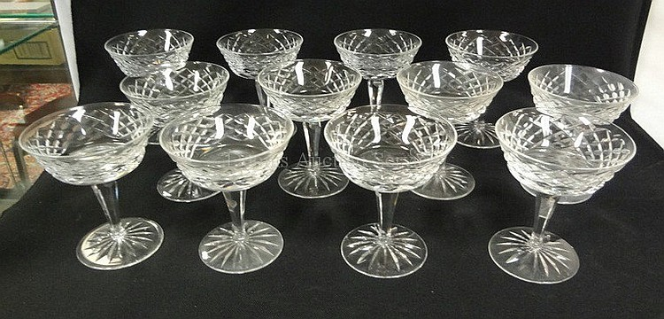 SET OF 12 SIGNED WATERFORD 4 3/4 IN CUT CRYSTAL