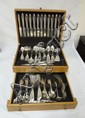 170 PC COMMUNITY SILVER PLATES FLATWARE SET W/BOX
