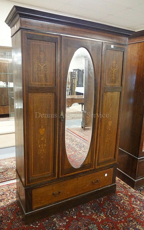 INLAID ARMIORE W/MIRROR DOOR & DRAWER