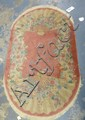 OVAL PINK CHINESE RUG W/FAN PATTERN; 5 FT X 3 FT