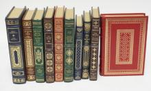 GROUP OF 10 LEATHER BOUND CLASSIC BOOKS. FRANKLIN LIBRARY.