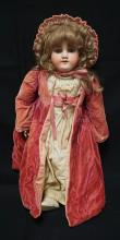 27 INCH HANDWERCK 119 BISQUE HEAD DOLL, COMPOSITION BJ BODY, OLD UNDERCLOTHES, MARKED 119 ? 13 / HANDWERCK / 5 / GERMANY