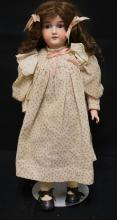 25 INCH ARMAND MARSEILLE 390 BISQUE HEAD DOLL, COMPOSITION BJ BODY, NEW WIG/OLD UNDERCLOTHES, MARKED MADE IN GERMANY / 390 / A 8 M