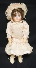 22 INCH SPECIAL GERMAN BISQUE HEAD DOLL, COMPOSITION BJ BODY (HAND REPAINTED/OTHER BODY REPAINT), NEW WIG/CLOTHES, MARKED SPECIAL / 4 / GERMANY