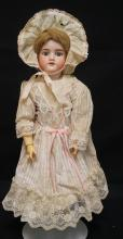 22 INCH ARMAND MARSEILLE 390 BISQUE HEAD DOLL, COMPOSITION BJ BODY, NEW WIG/CLOTHES, MARKED MADE IN GERMANY / 390 / A 6 M