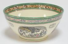ADAMS POLYCHROME TRANSFER BOWL. *THE TOUR OF DR. SYNTAX* . 9 IN DIA.