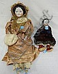 PAIR OF CHINA DOLLS; 28 IN 19TH C. CHINA HEAD DOLL