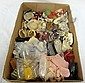 TRAY LOT OF ANTIQUE/COLLECTIBLE DOLL SHOES &