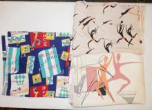 3 PC MID C FABRIC W/ DANCE THEME INCLUDING *AFRICAN BALLET* BY LEWIS WINFIELD.