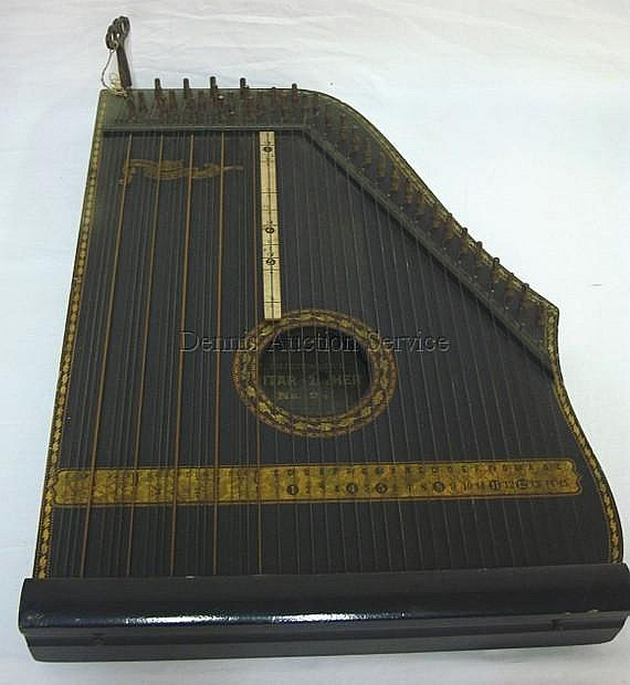 F. MENZENHAUER'S GUITAR-ZITHER NO. 2 1/2 IN; PAT MAY 29, 1894; 19 1/8 IN X 13 3/8 IN