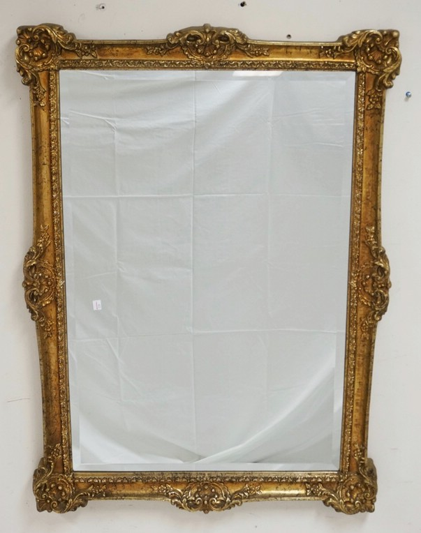 beveled mirror with an ornate gold gilt frame 30 x 42 inche. Black Bedroom Furniture Sets. Home Design Ideas