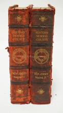 2 VOLS. 1914 HISTORY OF MORRIS COUNTY NEW JERSEY. GILT SPINES AND MARBLED EDGES. EACH WITH WEAR.