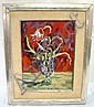 FRAMED O/B FLORAL STILL LIFE BY CLAUDE SAINT-REMY,