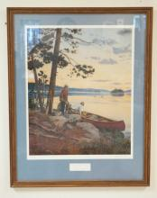FRAMED LIM ED PRINT BY LEE STRONCEK TITLED SONG OF THE NORTH. NO. 388 OF 650. PENCIL SIGNED. 17 1/2 IN X 22 IN