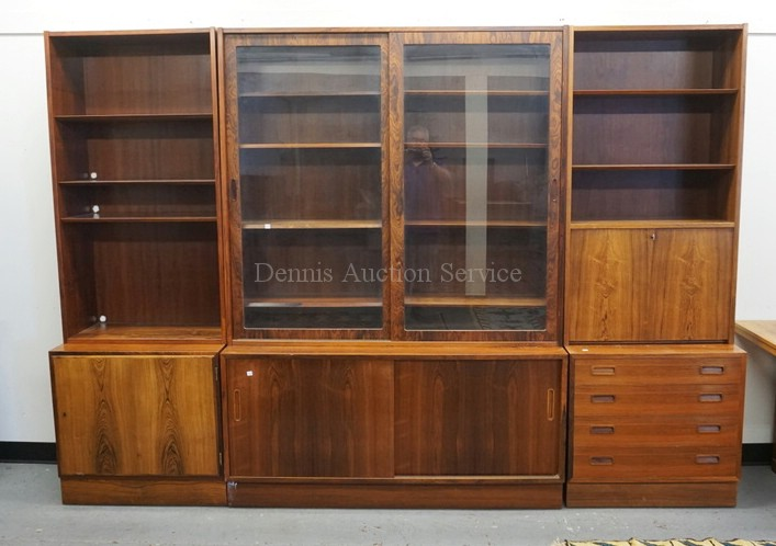 Maurice villency mid century modern 6 part cabinet set 77 i for Modern house 6 part 2